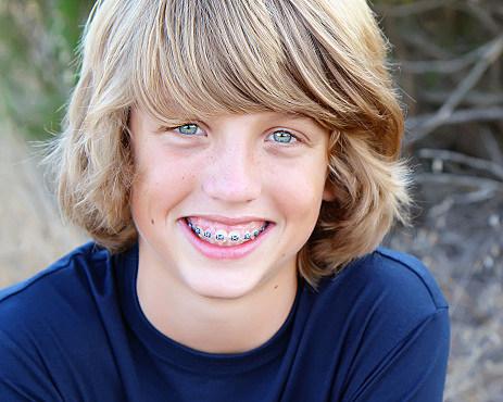 Teen Boy with Braces