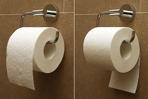 Toilet Paper Over Under