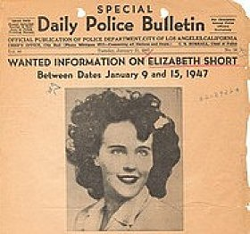 Black Dahlia picture of Los Angeles Police Bulletin