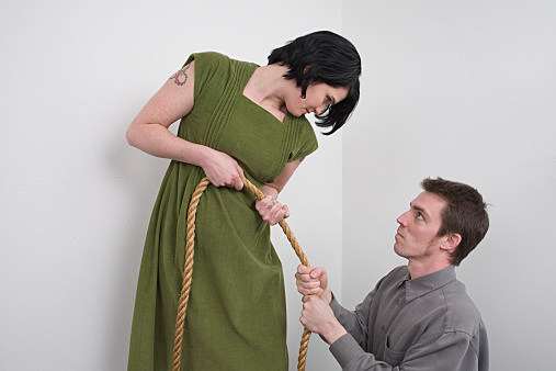 Woman trying to change a man