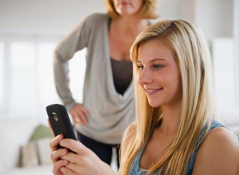 Teenage Girl Texting