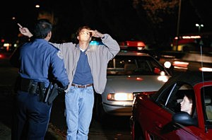 Police giving a sobriety test