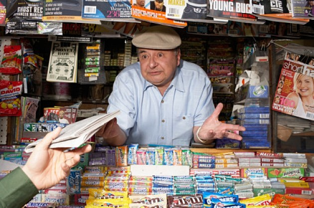 Person haggling with a shop owner
