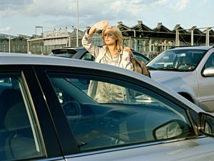 Woman searching for her car