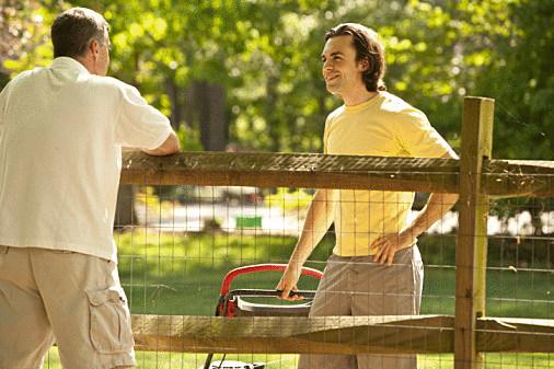 Two neighbors talking