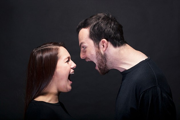 Man and Woman in Rage