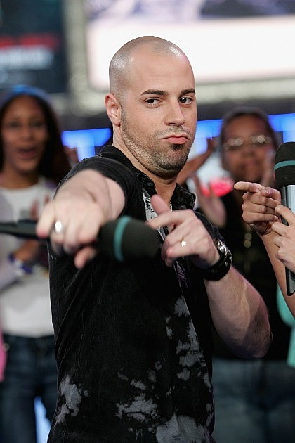 Singer Chris Daughtry appears on stage during MTV's Total Request Live