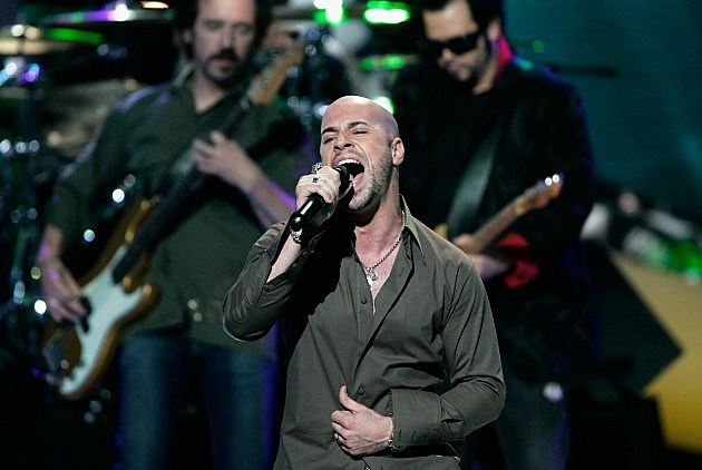 "Former American Idol Chris Daughtry performs with ""Live"""