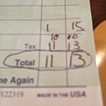 My bill from the Fireside