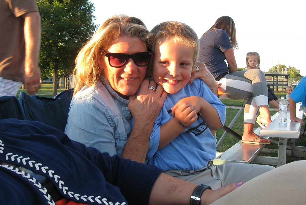 Simon & Auntie Georgie at Tball