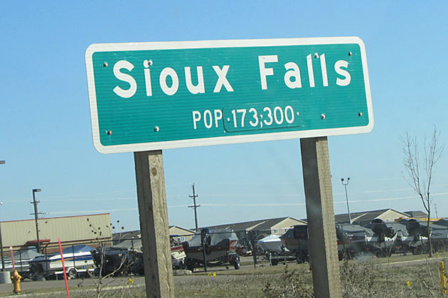 Sioux Falls population sign