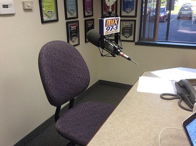 Empty Chair in the MIX 97-3 Studio