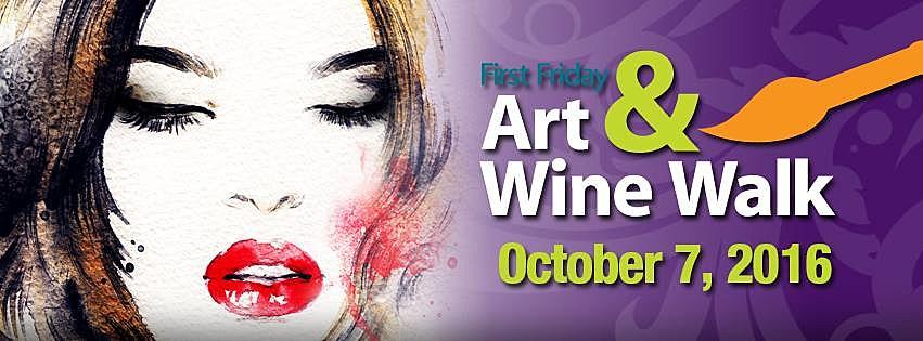Art & Wine Walk poster