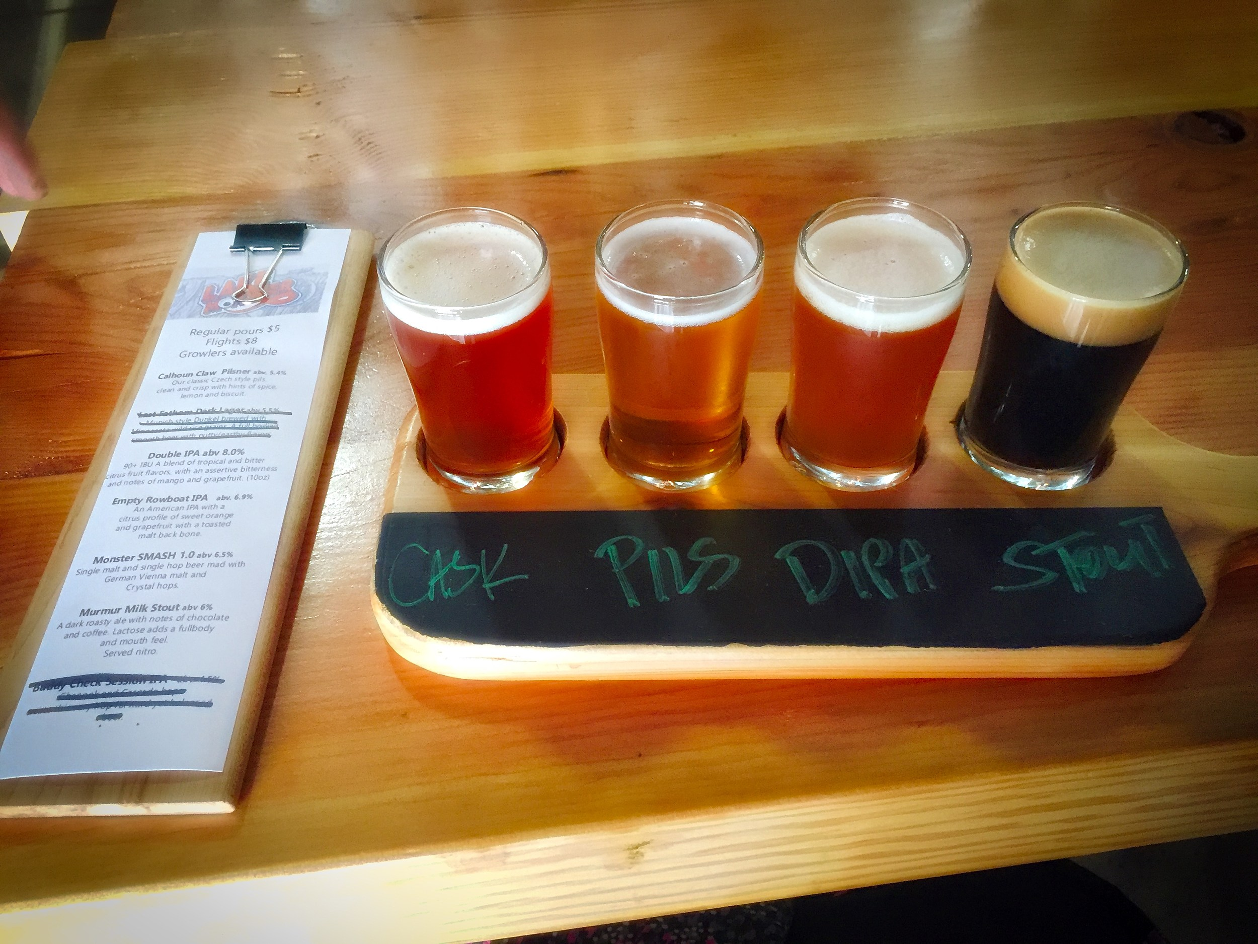 Lake Monster Beer Flight