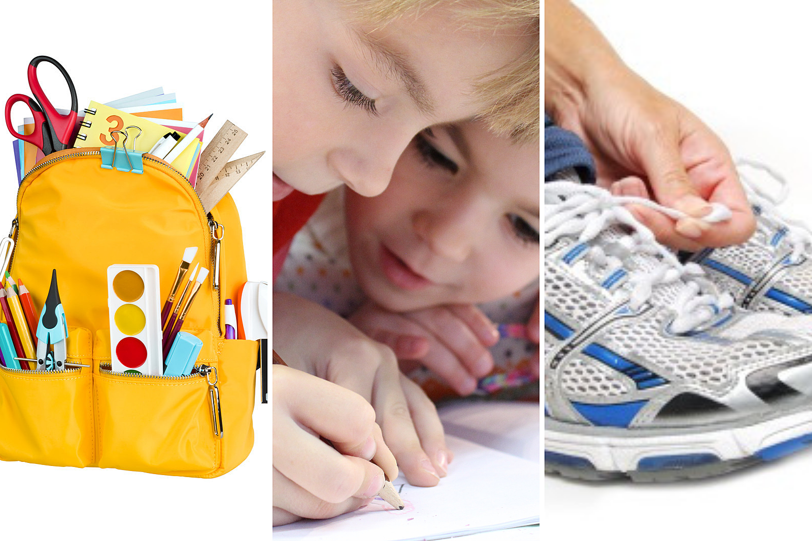 Back-to-school collage